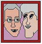 David Letterman and Jay Leno Caricatures