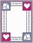 Country House & Heart Border