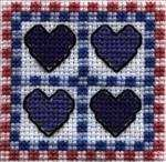 Four Hearts Quilt Block