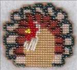 Beaded Turkey Pin