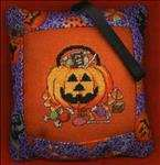 Pumpkin and Candy Tuck Pillow