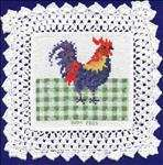 Rooster Doily