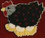 Beaded Chicken Magnet
