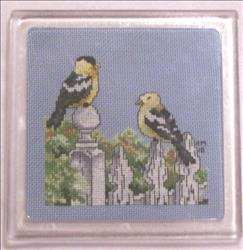 American Goldfinches Trivet