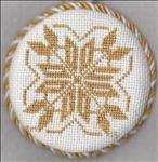 Golden Snowflake Ornament 2