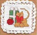 Christmas Cat Doily