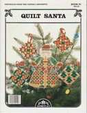 Quilt Santa | Cover: Perforated Paper Tree Topper