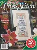 Simply Cross Stitch (now Cross Stitch Magazine) | Cover: Live, Laugh, Love
