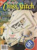 Simply Cross Stitch (now Cross Stitch Magazine) | Cover: Country Cow