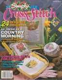 Simply Cross Stitch (now Cross Stitch Magazine) | Cover: Delicate Florals
