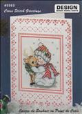 Snowman & Deer Greeting Card | Cover: Snowman With Deer